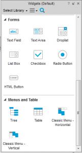 Abbildung 2: Formular- und Menü-Widgets