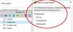 Abbildung 4: Master Usage Report