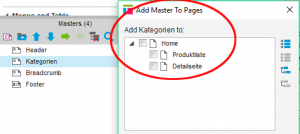 Abbildung 5: Add Master To Pages